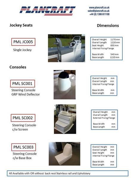 Plancraft - PMLJC003 Single Jockey Console & Back Rest