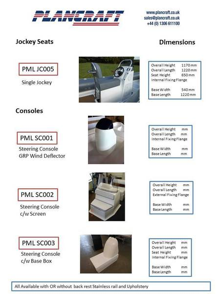Plancraft - Jockey Seating Steering Consoles