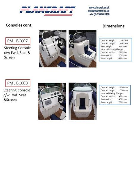 Plancraft GRP RIB Mouldings - Large Cabin storage / Toilet console
