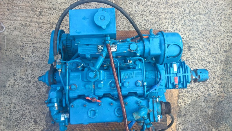 Lister Petter - LPW3 29hp Keel Cooled Marine Diesel Engine Under 250Hr From New