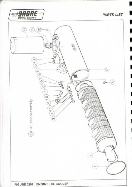 Sabre - 10180 Oil Cooler